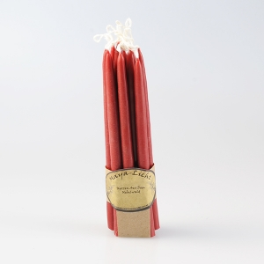Kerzen aus dem Nebelwald Gebinde rot