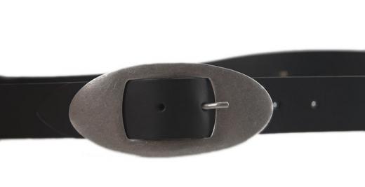 Ledergürtel Florenz schwarz oval
