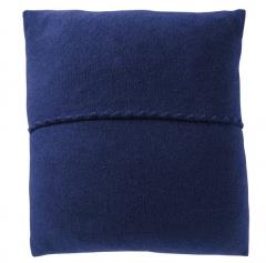 Wollwalk Kissenbezug blau GOTS zertifiziert