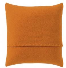 Wollwalk Kissenbezug orange GOTS zertifiziert